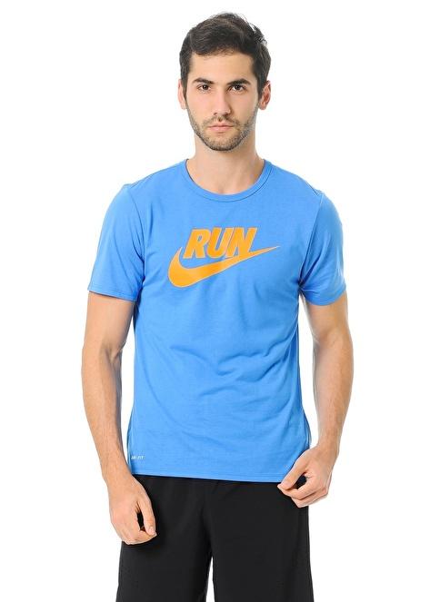 Nike Baskılı Tişört Mavi
